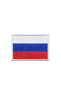 Шеврон Флаг РФ серебристый