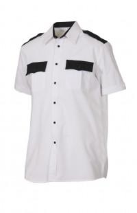 Сорочка форменная с коротким рукавом белая с черной отделкой