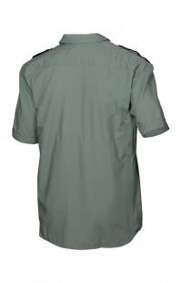 Сорочка мужская с коротким рукавом олива с черной отделкой