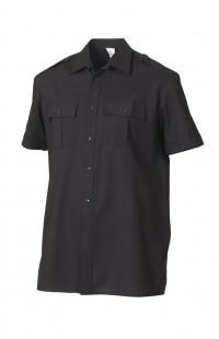 Сорочка мужская с коротким рукавом черный
