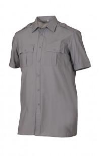 Сорочка мужская с коротким рукавом серый