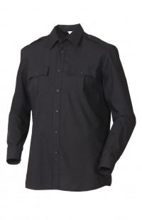 Сорочка мужская с длинным рукавом черная