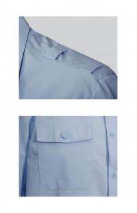 Сорочка мужская с коротким рукавом светло-голубая