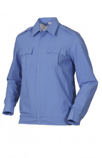 Сорочка форменная на поясе с длинным рукавом голубая