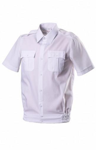 Сорочка форменная на поясе с короткимрукавом белая