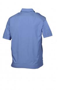 Сорочка форменная на поясе с короткимрукавом голубая
