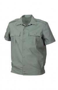 Сорочка форменная на поясе с короткимрукавом зеленая