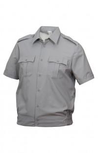 Сорочка форменная на поясе с короткимрукавом серая