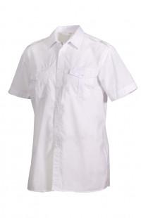 Сорочка мужская с коротким рукавом белая