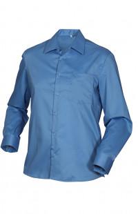 Сорочка мужская с длинным рукавом голубая