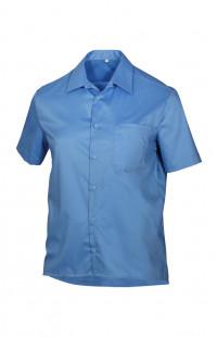 Сорочка мужская с коротким рукавом голубая