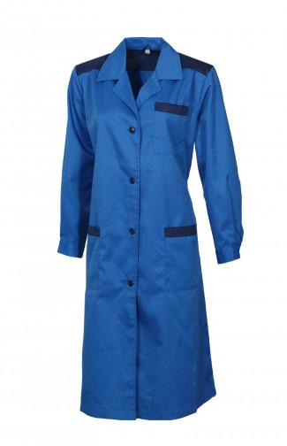 Халат рабочий женский смесовая синий