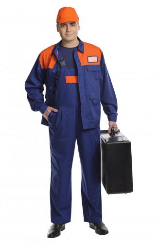Костюм рабочий для защиты от ОПЗ смесовая темно-синий