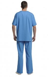 Костюм для хирурга Панацея смесовая голубой