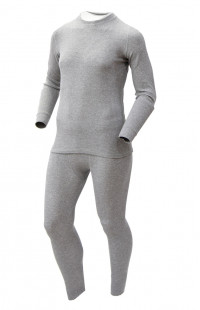 Термобелье мужское х/б серый