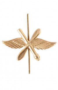 Эмблема ВВС (золото, с пушкой)