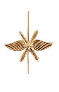 Эмблема ВКС металл золотистый
