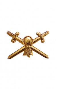 Эмблема сухопутных войск (золото)