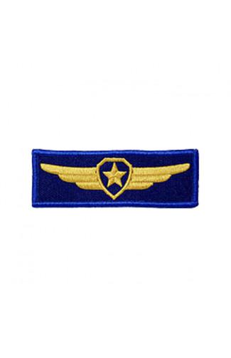 Шеврон Крылья Звезда прямоугольный наконтактной ленте