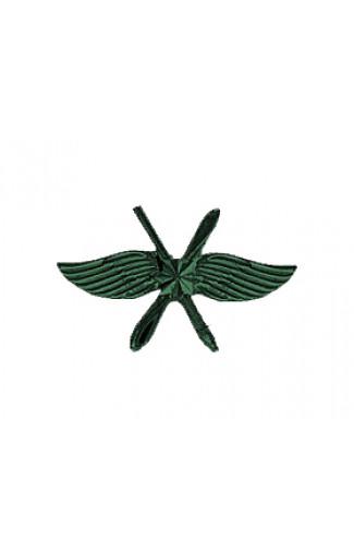 Эмблема ВКС матовая, с пушкой