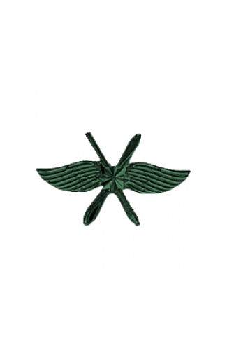 Эмблема ВКС зеленая матовая