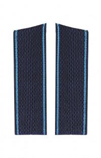 Погоны ВВС с голубым кантом со скосом синий