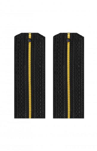 Погоны ВМФ с 1 желтым просветом черный