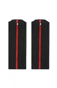 Погоны ВМФ с 1 красным просветом черный