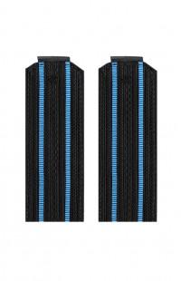 Погоны ВМФ с 2 голубыми просветами черный