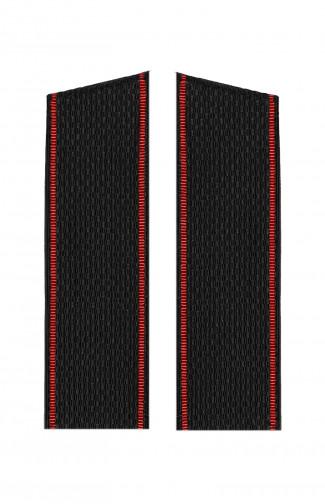 Погоны ВМФ с красным  кантом со скосом черный