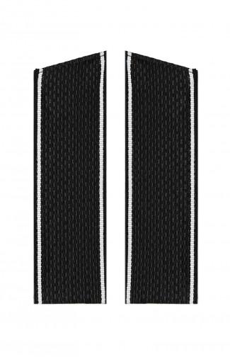 Погоны ВМФ с белым кантом со скосом черный