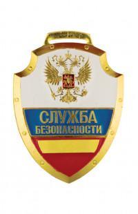 "Нагрудный знак ""Служба безопасности"" триколор"