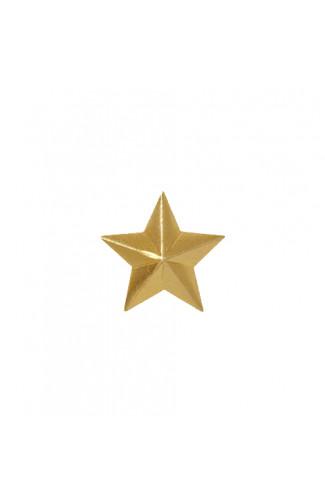 Звезда 20мм золотая цв.