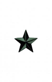 Звезда на погоны 13 мм металл защитная гладкая